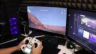 Liftoff simulator drone racing with Taranis q x7