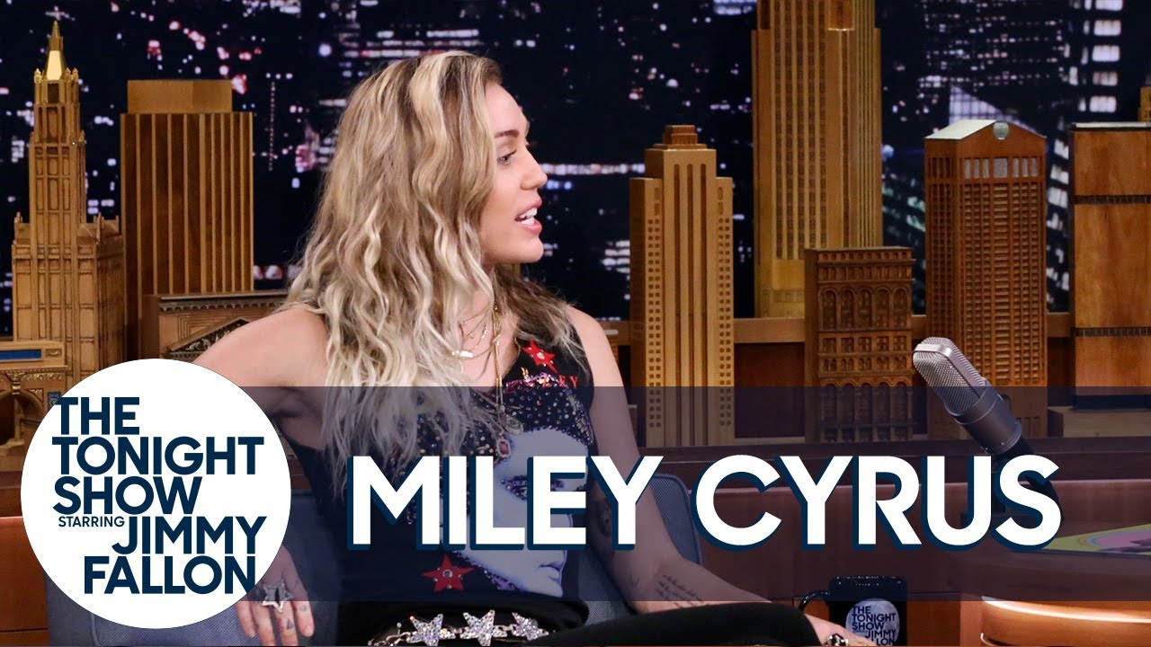 """Miley Cyrus Reveals Why She Opened Tonight Show with Dido's """"No Freedom"""" thumbnail"""