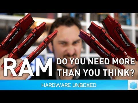 How much RAM do gamers need? 4GB vs. 8GB vs. 16GB vs. 32GB