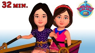Row Row Row Your Boat Song with Lyrics & more Nursery Rhymes Songs for Kids | Mum Mum TV