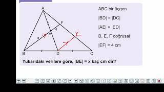 Eğitim Vadisi TYT Geometri 3.Föy Üçgenlerin Benzerliği Konu Anlatım Videoları