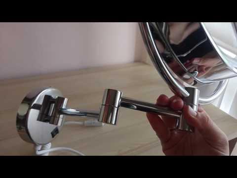 Specchio cosmetico bifacciale diametro 21,5 cm con ingrandimento x7 di Finether