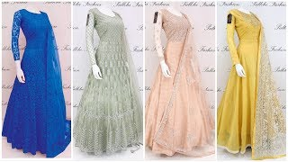 Stylish Long Frock Dress Designs For Girls