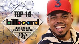 Top 10 • US Bubbling Under Hip-Hop/R&B Songs • August 4, 2018 | Billboard-Charts