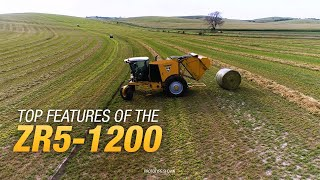 Top features of the ZR5-1200 self-propelled baler