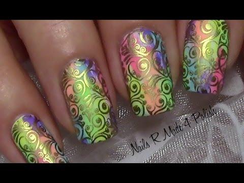Colorful Summer Vintage Nail Art Design Tutorial Buntes Sommer