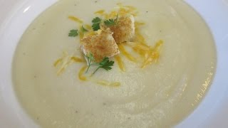 CREAMY CAULIFLOWER CHEDDAR SOUP - Learn How To Make - Recipe