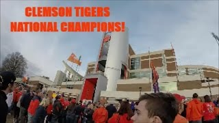 Clemson Football team Rollin' In! | VLOG