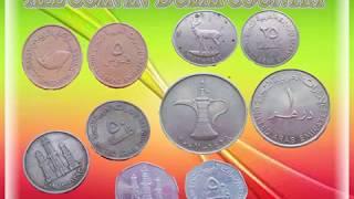 Dubai country files 5,10,25,50,1 dirhams coins(UAE)