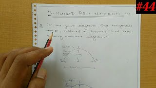 Structural analysis-2 3-hinge arch Numerical / Horizontal thrust / Reaction / BMD