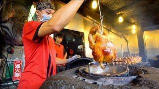 Most HECTIC Street Food in Taiwan : Yilan Night Market | ROAST CHICKEN + Best Taiwanese Street Food