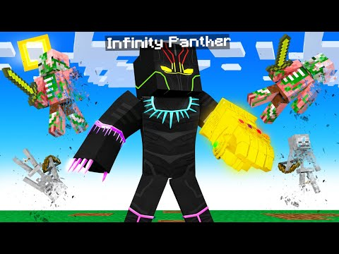 Playing as ULTIMATE BLACK PANTHER in Minecraft