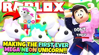 Making The First Ever Mega Neon Unicorn In Adopt Me New Adopt Me