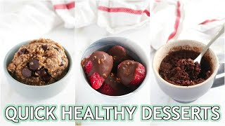 Healthy Dessert Recipes That Are QUICK! Single Serve, Easy