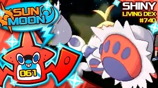 SHINY CRABOMINABLE! Crabrawler Reaction Quest For Shiny Living Dex #740 | Pokemon Sun Moon Shiny #61 by aDrive