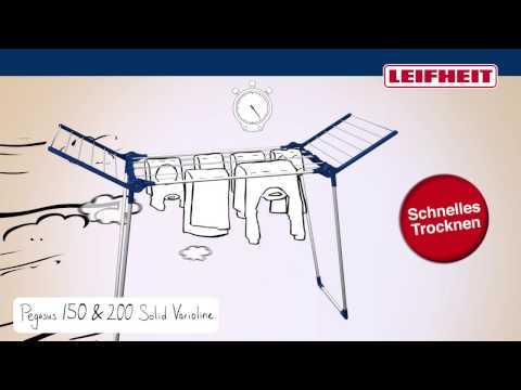 Leifheit Standtrockner Pegasus 200 Solid Varioline (German)