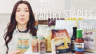 Keep these staple vegan ingredients stocked in your pantry : hot for food blog