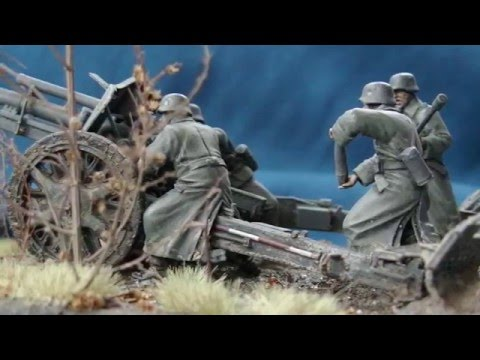 """Fire Mission"" Soviet Union 1941 diorama in 1/35 scale"