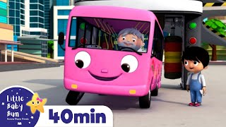 Wheels On The Bus | Bus Song For Kids - Bus Compilation +More Nursery Rhymes | Little Baby Bum
