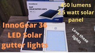 InnoGear 36 LED Gutter Solar Light