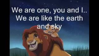Lion King 2-We are one w/ Lyrics