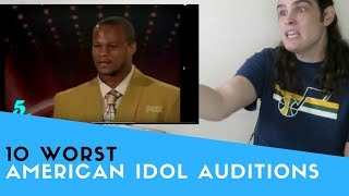 Voice Teacher Reacts To American Idol   Ten Worst Singers Ever
