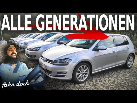 GOLF 1 bis GOLF 8 | ALLE VW GOLF GENERATIONEN IM CHECK | Fahr doch