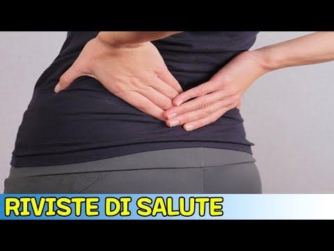 Lato destro dolorante dalla parte posteriore della colonna lombare nelle donne