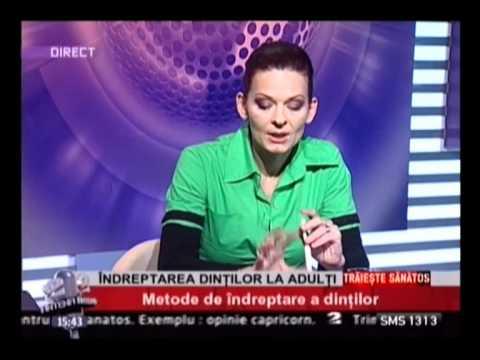 Dr. EMILIA MILICIN – Antena2 – Metode de îndreptare a dinților la adulți