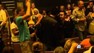 Pretty boys dancing at an Adam Lambert concert