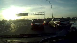 preview picture of video 'Road Sign Fell on Columbian Bridge Hamilton Ohio 4-26-13'