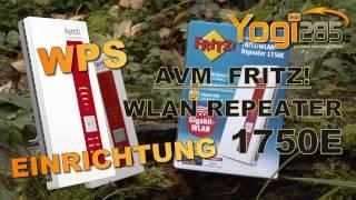Schnelleinrichtung per WPS: AVM FRITZ! WLAN Repeater 1750E / WiFi Verstärker 802.11b/g/n/ac WPA2