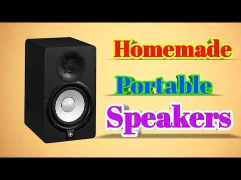 Homemade Portable Speaker cheap and easy DIY by electronic GURU