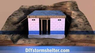 Concrete block DIY Storm Shelter 12x20 foot