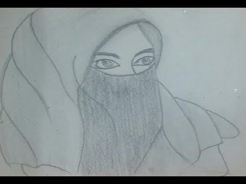 Kumpulan Mewarnai Gambar Sketsa Wanita Hijab Desain Interior