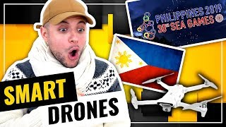 OFFICIAL 2019 SEA Games Torch Run DRONE Light Show PHILIPPINES | HONEST REACTION