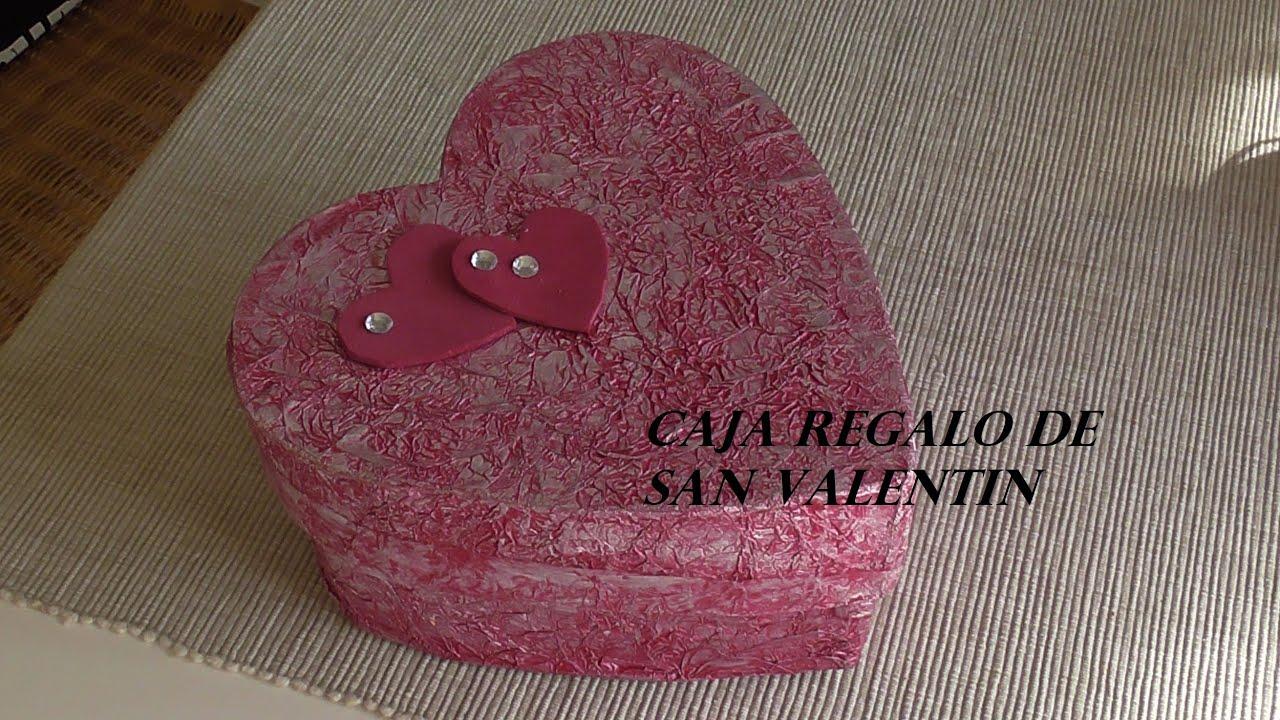 Haz una caja de cartón con forma de corazón para San Valentin DIY