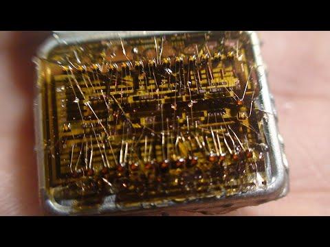 аффинаж золотых волосков из железных микросхем