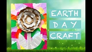 Earth Day Craft: 3D Pop-Up Flower Art From Recycled Materials