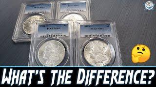 Comparing Mint State Morgan Silver Dollar Grades?