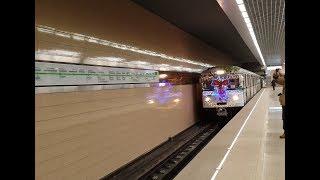 Новогодний поезд (Еж3) на Замоскворецкой линии