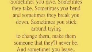 Sometimes You Leave - Carrie Underwood *Lyrics!*