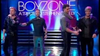 Boyzone and Westlife Together Tribute to Stephen Gately No Matter What