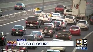 US 60 closed for construction over weekend