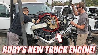 "Finding the Auction Corvette a ""NEW"" Junkyard Truck Engine! (Super Cheap!)"