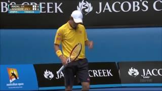 Nadal vs Nishikori - Australian Open 2014 Highlights