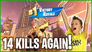 Tilted Landing 14 Kills Victory Royale!