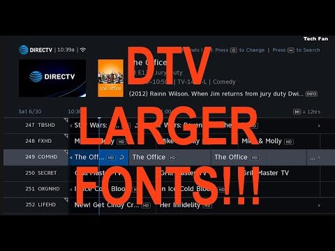 Directv Genie HR DVR Larger Guide - MENU Fonts FINALLY Arrived!!  I can see again : )