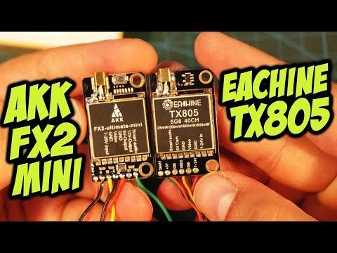 Битва титанов! Сравнение 2х дешевых передатчиков от AKK и Eachine [Akk FX2 MINI vs Eachine TX805]