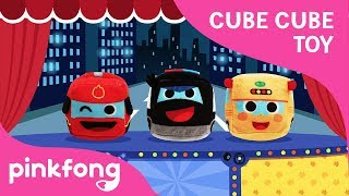 CUBE CUBE Car Show   Police Car   Car Song   Toy Show   Pinkfong Toy Show for Children